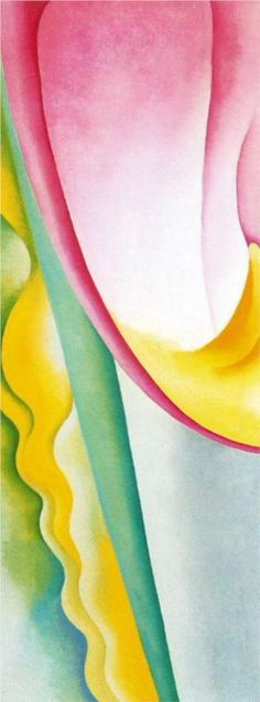 Calla Lily on Grey - Georgia O'Keeffe - WikiPaintings.org