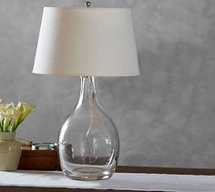 Grant Glass Table Lamp #potterybarn