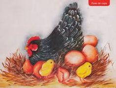 Resultado de imagem para risco de galinha para pintar