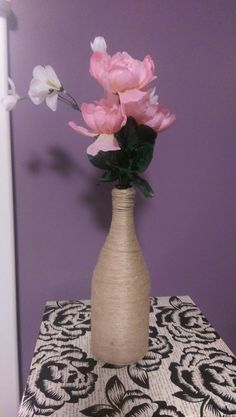 twine vase by Krafternal on Etsy
