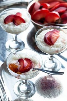 Maple Roasted Plums with Coconut Milk Tapioca Pudding