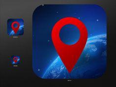 Globe Icon design iPhone App