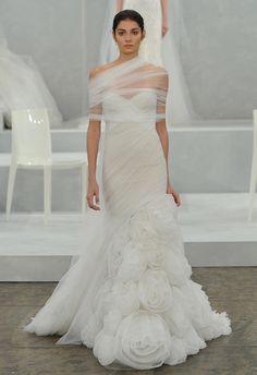 Monique Lhuillier Spring 2015 #wedding #dress #weddingdress   The Knot Blog