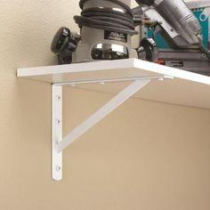Everbilt 12 in. x 8 in. White Heavy Duty Shelf Bracket-15245 - The Home Depot