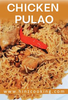 Simple and easy 'chicken pulao recipe' for rice lovers. It's a chicken yakhni pulao recipe video in Hindi and Urdu. Looking how to make chicken pulao. Pakistani Rice Recipes, Pakistani Chicken Recipes, Pakistani Dishes, Indian Food Recipes, Vegetarian Recipes, Cooking Recipes, Chicken Snacks, Best Chicken Recipes, Granny's Recipe