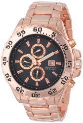August Steiner Men's AS8071RG Swiss Multi-Function Black Dial Rose-Tone Bracelet Watch