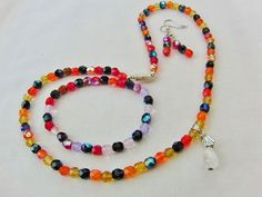 Multi Colour Faceted Glass Crystal 3 Piece by OswestryJewels