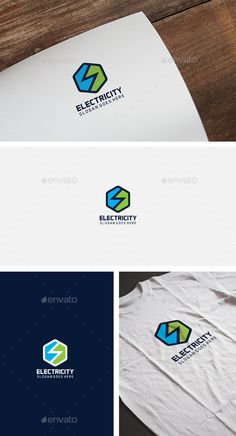Electricity Hexagon Logo by Fully Editable Logo EPS EPS and AI files CMYK Easy to Change Color and Text Font information at the Help fil Logo Design Template, Logo Templates, Electrician Logo, S Letter Logo, Hexagon Logo, Kitchen Logo, Flower Symbol, Text Fonts, Symbol Logo