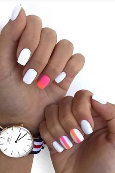 Decorated nails: This is the manicure that you will wear this fall Stylish Nails, Trendy Nails, Cute Nails, Summer Acrylic Nails, Best Acrylic Nails, Hair And Nails, My Nails, Work Nails, Dipped Nails
