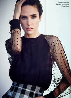 She repells me, just seeing her, being the best that she can possibly be, the nices, most encouraging version of her - she just puts me on edge ... what about her is it that makes me feel like that?! [Jennifer Connelly In Balmain Combo Checks and Dots]