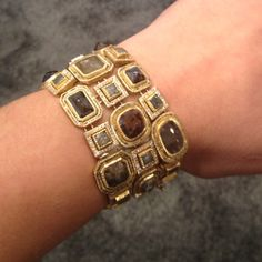18k gold and diamond cuff By @Todd Reed. Took over 400 hours to make, by hand, in his Boulder, CO studio.