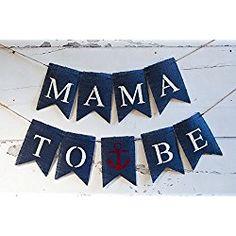 Mama To Be Baby Shower Burlap Decor