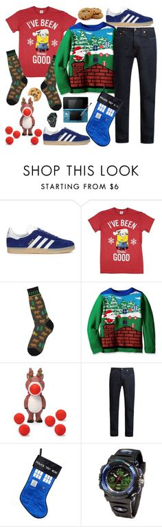 """christmas cookies w/ Grandma"" by sterlingkitten on Polyvore featuring adidas Originals, Foot Traffic, Acne Studios, Nintendo, Kurt Adler, men's fashion and menswear"