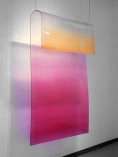 untitled, 1969 by craig kauffman, gradient colour