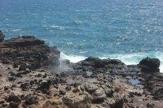A Warning at the Nakalele Blowhole in Maui