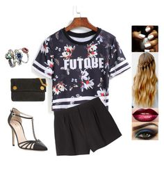 """""""Untitled #2601"""" by sigalv ❤ liked on Polyvore featuring Monki, SJP, Marc by Marc Jacobs and Charlotte Cornelius"""