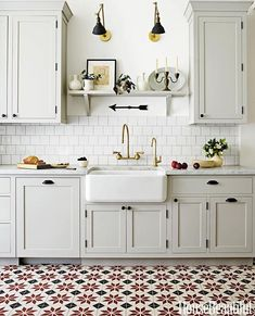 cabinets, color, handles