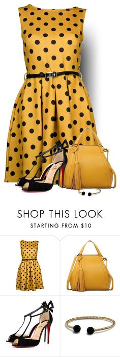"""""""Mustard"""" by barbarapoole ❤ liked on Polyvore featuring Christian Louboutin and David Yurman"""