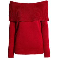 Off shoulder-tröja 99 (91 SEK) ❤ liked on Polyvore featuring tops, sweaters, off shoulder knit sweater, ribbed knit sweater, off shoulder sweater, red sweater and off shoulder long sleeve top