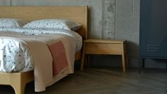 Ethnicraft Air Bedside Table with Carnaby Bed
