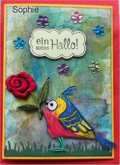 Sophie's Art: Crazy Birds - ein kleines Hallo...