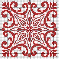 Free Cross Stitch Pattern - Star and Scroll square Biscornu Cross Stitch, Cross Stitch Borders, Cross Stitch Charts, Cross Stitch Designs, Cross Stitching, Cross Stitch Patterns, Diy Embroidery, Cross Stitch Embroidery, Embroidery Patterns