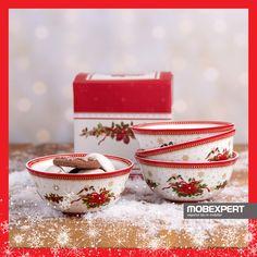 Decorate cu accente festive, bolurile Spirit of Xmas contribuie la crearea unui aranjament de poveste al mesei.  #craciun #masa #mobexpert #vesela Spirit, Decorative Boxes, Xmas, Home Decor, Decoration Home, Room Decor, Christmas, Navidad, Noel