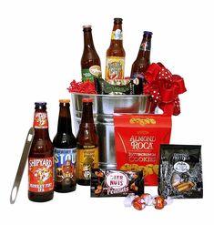 Create Your Own Microbrew Beer Gift Basket Gifts For Beer Lovers, Beer Gifts, Diy Gifts, Easter Baskets, Gift Baskets, Craft Stick Crafts, Easy Crafts, Craft Beer List, Beer Basket