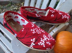 Branching out  on TOMS shoesmade to ordercutomize by ArtfulSoles, $120.00