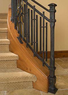 Blair Residence Wine Room Doors and Stair Railings