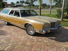 """A 1977 Chrysler Town and Country Wagon customized into an """"Imperial Town and Country"""" luxury wagon."""