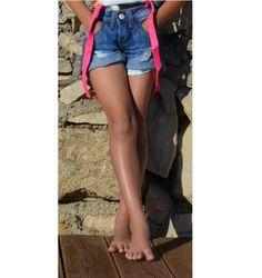 short en jeans + bretelles