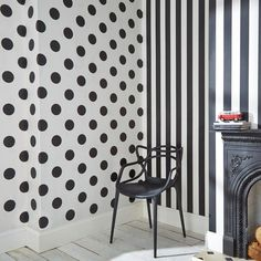 Graham & Brown Black and White Monochrome Stripe Removable Wallpaper 100099 - The Home Depot Striped Wallpaper Black, Stripe Removable Wallpaper, Spotted Wallpaper, Embossed Wallpaper, Modern Wallpaper, Polka Dot Wallpaper, Wallpaper Samples, Print Wallpaper, Wallpaper Roll