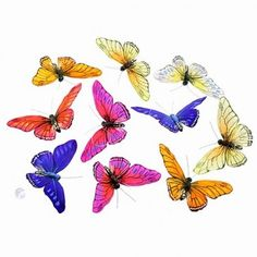 """Butterfly garland. Nice mixture of dark and light colors. Very pretty! 78"""" long"""