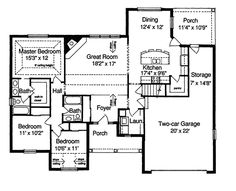 The Roberta Ranch Home has 3 bedrooms and 2 full baths. See amenities for Plan 065D-0022.