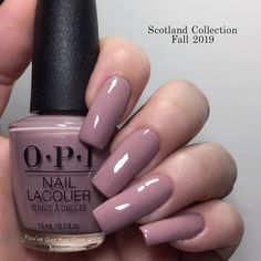 This is You've Got that Glas-glow from OPI Scotland - Fall 2019 Collection - cream - opaque in 2 coats - it stamps well on a light background and is visible on a dark background - looks good with matte top coat Ten Nails, Chrome Nails, Stylish Nails, Tips Belleza, Nails Inspiration, Beauty Nails, How To Do Nails, Winter Nails, Pretty Nails