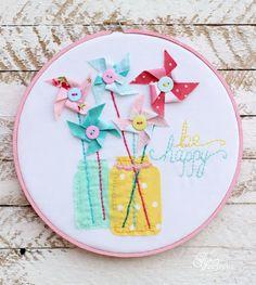 Pinwheel hoop art from fynesdesigns.com