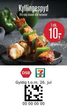 7-Eleven and DSB Denmark 7 Eleven, Baked Potato, Denmark, Coupon, Potatoes, Baking, Ethnic Recipes, Food, Coupons