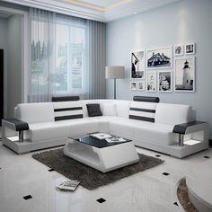 Silviano Modern L-Shaped Leather Sofa – Sofa Design 2020 Sofa Set Designs, L Shaped Sofa Designs, Modern Sofa Designs, Modern Design, Corner Sofa Design, Living Room Sofa Design, Bed Design, Living Room Designs, Sofa For Living Room