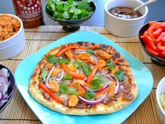 Thai Chicken Pizza - was delicious!
