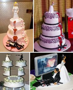 real wedding cakes. like in the reality of marriage. i love my wife though dint get me wrong i am just saying...