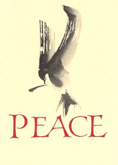 Peace Dove in Sumi Brushwork (by Sally Sanders)