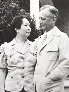 Philippine President Manuel Quezon and Aurora Aragon-Quezon were first cousins. Their mothers were sisters. Photo taken in Leesburg, Virginia, USA, Leesburg Virginia, Virginia Usa, National Language, From Rags To Riches, Aragon, Cousins, Aurora, Mothers, Presidents