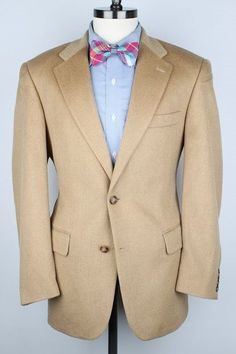 Light Brown Men's Sport Coat with Brown Leather Buttons 95Emv3FZun