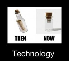Technology today vs many years ago