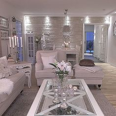 The Chic Technique: All white living room.
