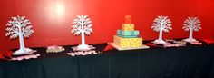 Well wishing trees with stamps for decorating the tags and the Birthday cake