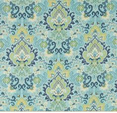 These colours are great for the sunroom, I love this floral outdoor fabric. $39.99/m