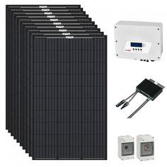 Kit solaire Eurener Black 230 V micro-onduleurs Enphase Installation Solaire, Kit, Orientation, Construction, Play, Portrait, Solar Powered Heater, Solar Energy, Building