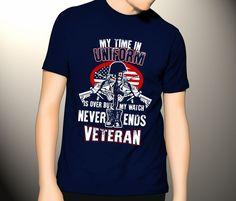 Never Ends Veteran T-shirt